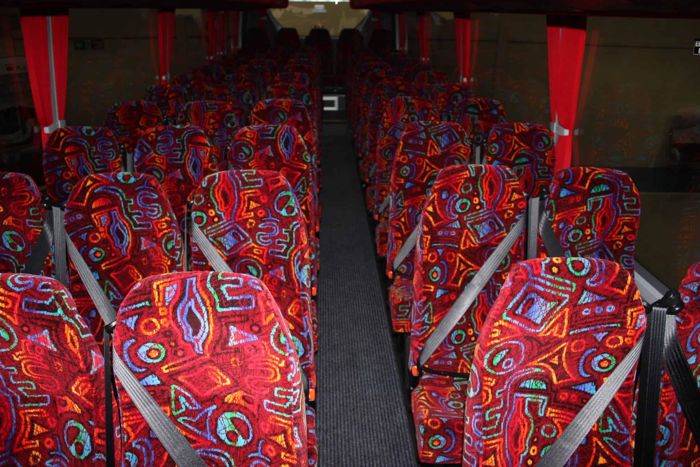 70 Seat Leopard Interior