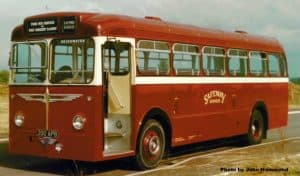 Safeway services bus in original livery