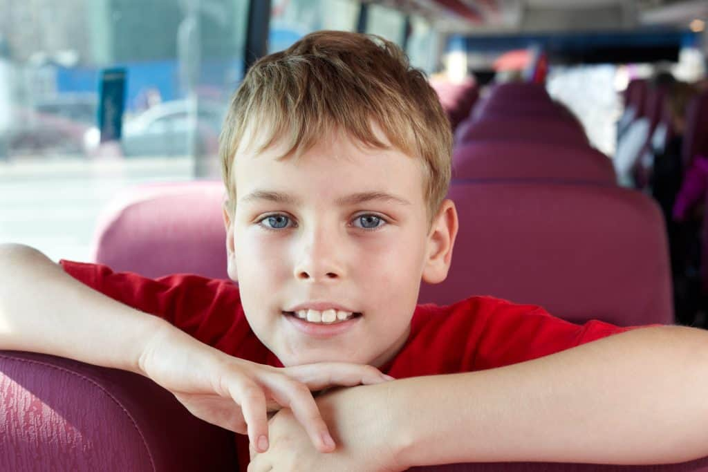 School Child on Hired Coach